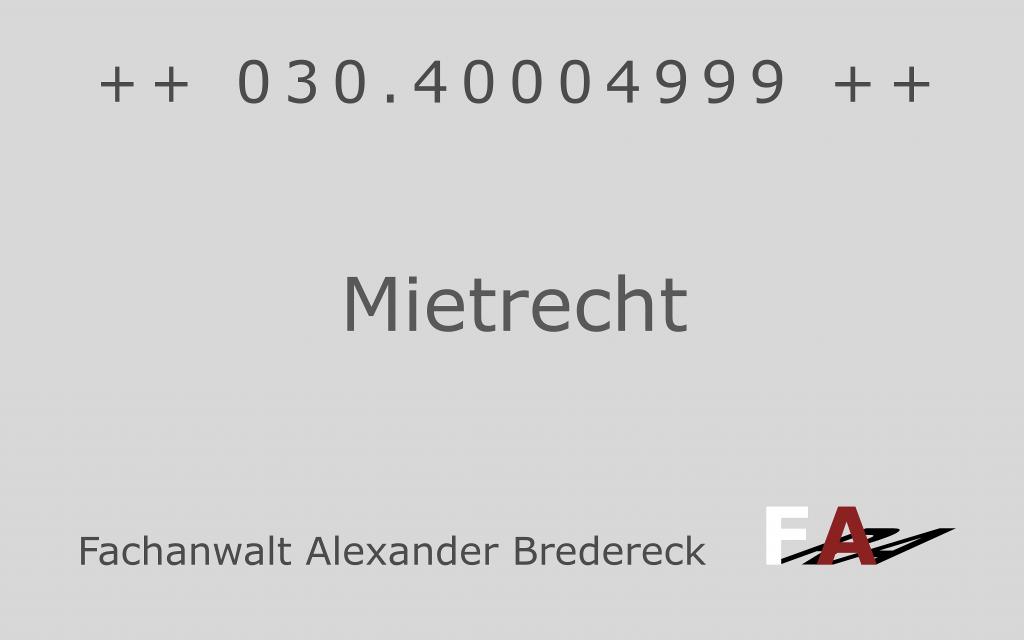 Fachanwalt Bredereck